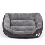 Candy Color Four Seasons Genuine Warm Pet Dog Kennel Mat Teddy Dog Mat, Size: S, 43×32×10cm (Coffee)