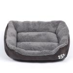 Candy Color Four Seasons Genuine Warm Pet Dog Kennel Mat Teddy Dog Mat, Size: XL, 80×60×16cm (Coffee)