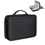Small Nylon Waterproof Box Type Multi-function Storage Bag for iPad, Size: 24 X 18 X 8cm (Black)