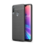 Litchi Texture TPU Shockproof Case for ASUS Zenfone Max Pro(M2) (Black)