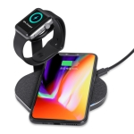 CS2-02 10W Multi-function Fast Wireless Charger Watch Phone Stand Charging Dock Stand Holder Station (Black)
