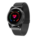 R15 1.3 inch IPS Color Screen Smartwatch IP67 Waterproof,Milan Watchband, Support Call Reminder /Heart Rate Monitoring /Blood Pressure Monitoring /Blood Oxygen Monitoring /Sleep Monitoring(Black)