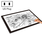 23W 12V LED Three Level of Brightness Dimmable A2 Acrylic Copy Boards Anime Sketch Drawing Sketchpad, US Plug