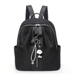 School Backpack Casual Handbag Shoulder Bag (Black)