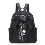 School Backpack Casual Handbag Shoulder Bag (Black)