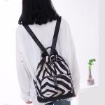 Fashion Zebra Pattern Oxford Fabric School Backpack Casual Handbag Shoulder Bag