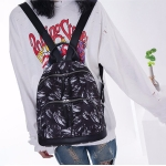 Fashion Feather Pattern Oxford Fabric School Backpack Casual Handbag Shoulder Bag