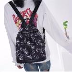 Fashion Feather Pattern Oxford Fabric School Backpack Casual Handbag Shoulder Bag