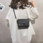 Fashion  PU Leather Small Square Handbag Ladies Shoulder Messenger Bag (Black)