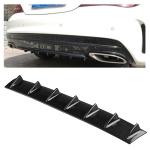 Universal Car Rear Bumper Lip Diffuser 7 Shark Fin Style Carbon Fiber ABS, Size: 85.3 x 79.8 x 13.4cm