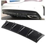 Universal Car Rear Bumper Lip Diffuser 5 Shark Fin Style Carbon Fiber  ABS, Size: 58.4 x 53.3 x 15.2cm