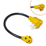 125V 50A Male to 30A Female Plug RV Boat Marine Adapter, Cable Length: 60cm
