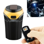 2 in 1 Universal Car Detachable Electronic Cigarette Lighter + Trash Rubbish Bin Ashtray (Gold)