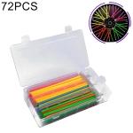 72 PCS 17cm Colorful Wheel Modified Spoke Skin Cover Wrap Kit for Pipe Motorcycle / Motocross / Bike