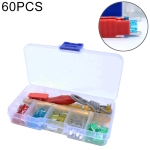 60 PCS Assorted Car Motorcycle Truck Mini Low Profile Fuse Micro Blade Fuse Set 5A 10A 15A 20A 25A 30Amp & Test Pencil