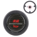 Mugen Power Plastic + Carbon Fiber Car Racing Steering Wheel Horn Button Push Cover, Size: 6.2 x 1.5cm
