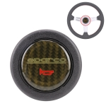 Sparco Plastic + Carbon Fiber Car Racing Steering Wheel Horn Button Push Cover, Size: 6.2 x 1.5cm