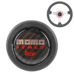 MOMO Plastic + Carbon Fiber Car Racing Steering Wheel Horn Button Push Cover, Size: 6.2 x 1.5cm
