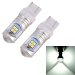2 PCS T20/7440 7.5W 600LM 6000K Car Auto Turn Lights / Reversing Light 12LEDs SMD-3030 Lamps, DC 12V-24V (White Light)