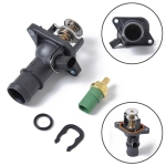 Car Coolant Thermostat Set Thermostat Housing Cover + Coolant Water Temperature Sensor 06A121114 059919501A for Audi / Volkswagen