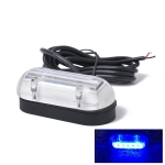 DC12V 1.1W IP68 6 LEDs Marine Boat Underwater Blue Light Surface Mount Light