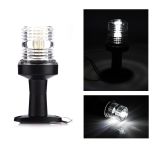 DC 12V 3W Marine Boat Yacht Stern Anchor LED Navigation Pedestal Light All Round 360 Degree White Light