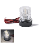 DC 12V 2.5W Marine Boat Yacht Stern Anchor LED Navigation Light All Round 360 Degree White Light