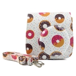 Sweet Buns Pattern Full Body Camera PU Leather Case Bag with Strap for FUJIFILM instax mini 9 / mini 8+ / mini 8