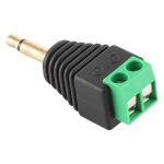 3.5mm Male Plug 2 Pole 2 Pin Terminal Block Stereo Audio Connector