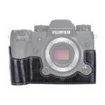 1/4 inch Thread PU Leather Camera Half Case Base for FUJIFILM X-H1 (Black)