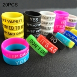 20 PCS Colorful E-cigarette Silicone Decorative Ring 22mm Random Color Delivery