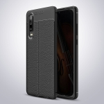 Litchi Texture TPU Shockproof Case for Huawei P30 (Black)