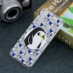 Penguin Pattern Transparent TPU Protective Case for Huawei P30