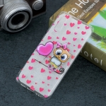 Love Owl Pattern Transparent TPU Protective Case for Huawei P30