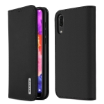 DUX DUCIS WISH Series TPU + PU + Leather Case for Huawei P20, with Card Slots & Wallet (Black)