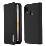 DUX DUCIS WISH Series TPU + PU + Leather Case for Huawei P20 Lite, with Card Slots & Wallet (Black)