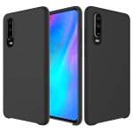 Solid Color Liquid Silicone Dropproof Protective Case for Huawei P30 (Black)