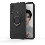 PC + TPU Shockproof Protective Case with Magnetic Ring Holder for Huawei Nova 4 (Black)