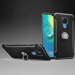 Shockproof Car Magnetic Case with 360 Degree Rotating Armor Ring for Huawei Mate 20 X(Black)