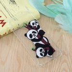 Three Pandas Pattern Oil Embossed TPU Case for Huawei Enjoy 9