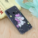 Star Unicorn Pattern Oil Embossed TPU Case for Huawei Honor 10 Lite / P Smart (2019)