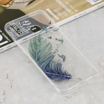 Feather Pattern Transparent Clear TPU Case for Huawei Y9 (2019) / Enjoy 9 Plus