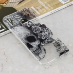 Skull Heads Pattern Transparent Clear TPU Case for Huawei Y9 (2019) / Enjoy 9 Plus