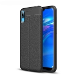 Litchi Texture TPU Shockproof Case for Huawei Enjoy 9 (Black)