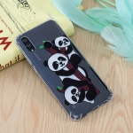 Three Pandas Pattern Oil Embossed TPU Case for Huawei Honor 10 Lite / P Smart (2019)