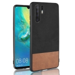 Shockproof Color Matching Denim PC + PU + TPU Case for Huawei P30 Pro (Black)