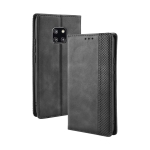 Magnetic Buckle Retro Texture Horizontal Flip Leather Case for Huawei Mate 20 Pro, with Holder & Card Slots & Wallet (Black)