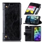 Copper Buckle Nappa Texture Horizontal Flip Leather Case for Huawei Y7 (2019), with Holder & Card Slots & Wallet (Black)