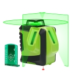 622CG H360°/V140° Laser Level Covering Walls and Floors 6 Line 1 Dot Green Beam IP54 Water / Dust proof(Green)