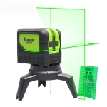9211G 1V1H 15mW 2 Line 2 Dot Green Beam Laser Level Covering Walls and Floors (Green)